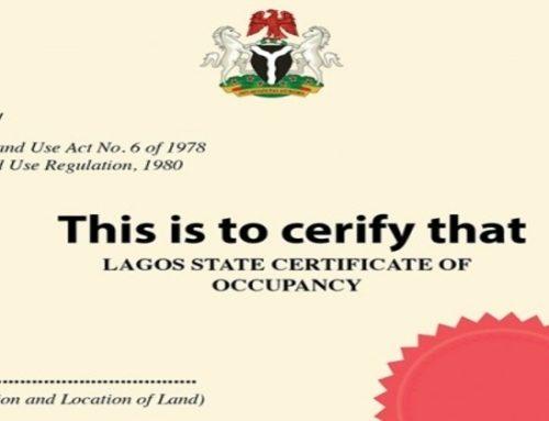 Appraisal of Certificate of Occupancy In Nigeria